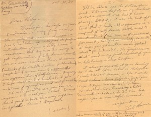 Dick Moore Letter to Morocco