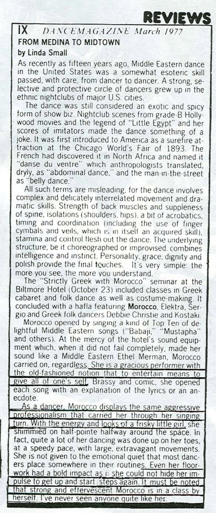 Page 2 Dance Magazine Review of Morocco